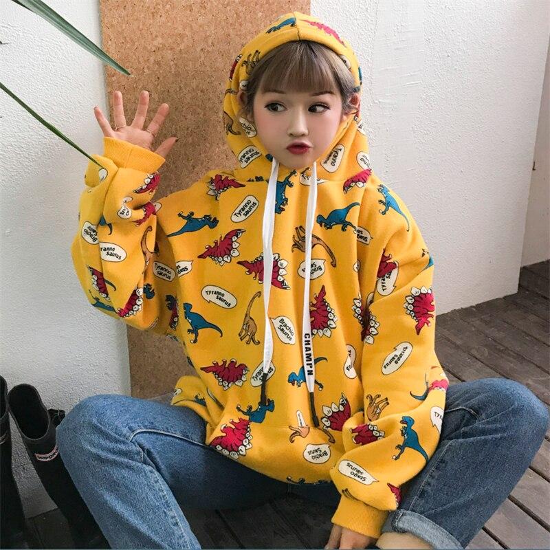 Women's Clothing Female Korean Kawaii Cute Splicing Fake Two-piece Sweatshirt Womens Sweatshirts Japanese Harajuku Ulzzang Clothing For Women