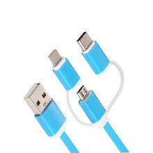 Three-in-One Data Cable for Android Type-c a Drag Three Mobile Phone Charging Multi-Function
