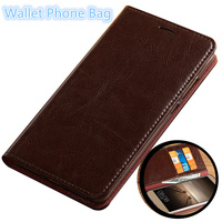 CH16 Luxury genuine leather wallet flip case with card holders for Xiaomi Redmi 4X phone case free shipping