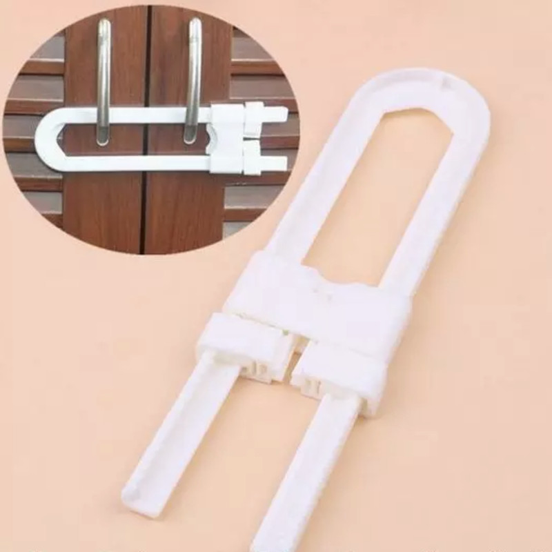 5pc/lot  Protection Lock U Shape Baby Safety Lock Prevent Child From Opening Drawer Cabinet Cupboard Door Children Safety Lock