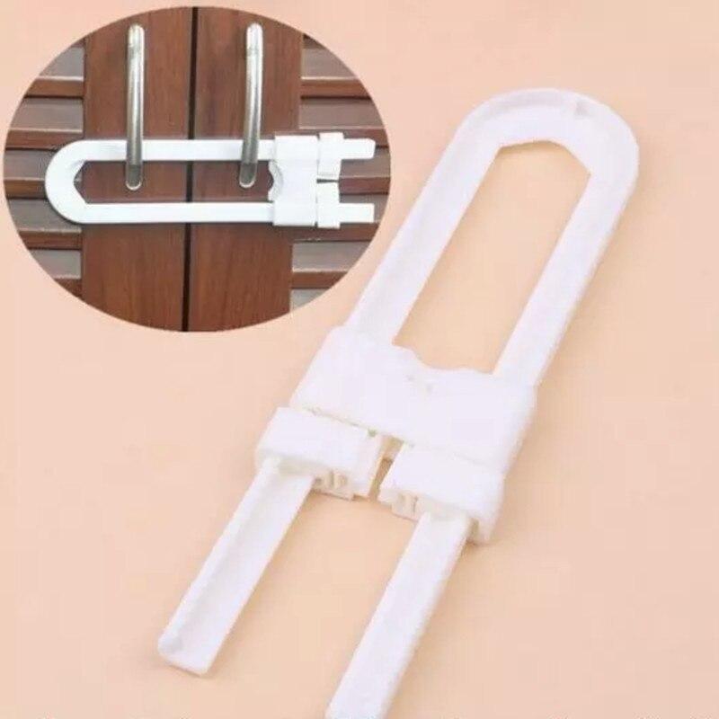 Children Protection Lock U Shape Baby Safety Lock Prevent Child From Opening Drawer Cabinet Cupboard Door Children Safety Lock