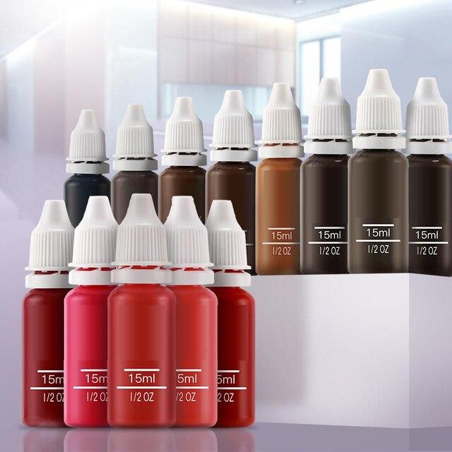 23 Uds tinta permanente maquillaje pigmento 15Ml cosmético 23 tinta de tatuaje Color Set pintura para Microblading ceja labio maquillaje corporal