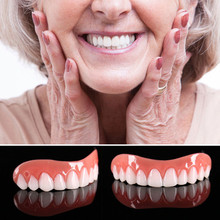 Фотография 2017 top sell Instant Smile Comfort Fit Teeth Top Cosmetic Veneer One Size Fits All  Denture Care tool A# dropship 1109