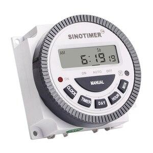 HLZS-SINOTIMER Tm-619H-2 230Vac 7 дней в неделю программируемый таймер цифровой таймер переключатель освещения Выход 220V Напряжение С Пылезащитным Co