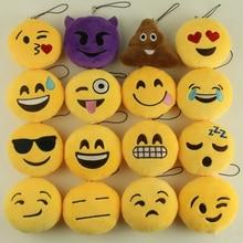 Fashion Emoji Emoticon Funny Face Keychain Pendant Key Chain Toy Bag Accessory Holder Key ring Soft For Woman Man