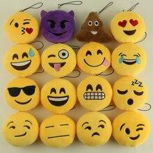 Venda Emoji Smiley Emoticon/Funny Face Chaveiro Pingente Chaveiro Titular Chaveiro Brinquedo Macio Saco Acessório