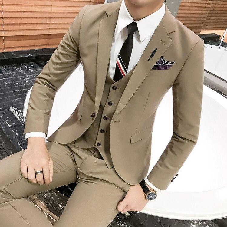 Juventud 4 Guapo Social Pequeño Ocio 2 Piezas Coreano Traje La De 3 Tres Hombre Slim 1 qaxSSY