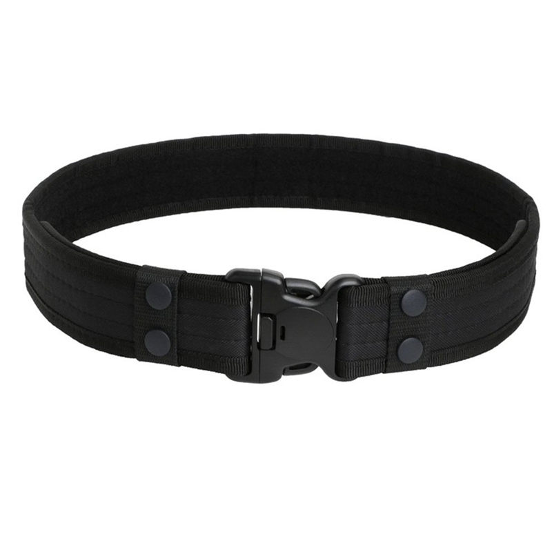 Heavy Duty Tactical Belt Justerbar lagarbete Gear Durable Police Belt - Sportkläder och accessoarer