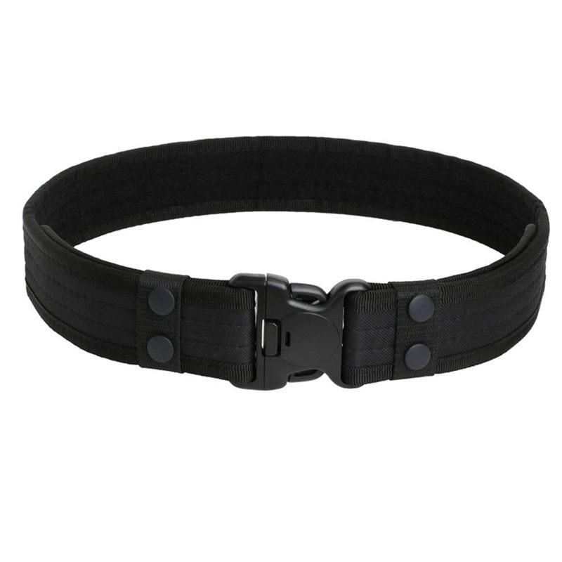 Heavy Duty Tactical Adjustable Waist Belt 2 Inch Outdoor Hiking Climbing Load Bearing Utility Waistband Police Belt Duty Belt