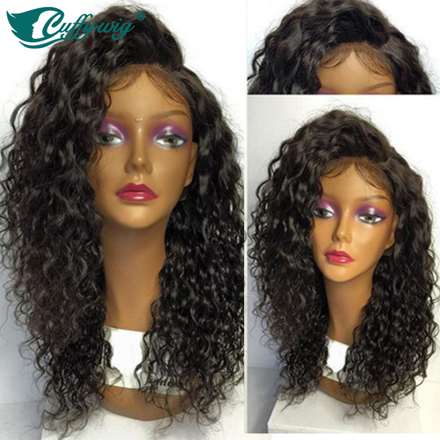 Peruvian Virgin Hair Full Lace Curly Wigs Unprocessed Glueless Full Lace Human Hair Wigs Long Curly Glueless Wig With Combs