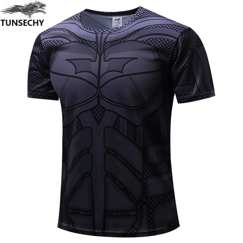2017 fashion Brand superman batman T-shirt man fitness clothing captain America movement round collar short sleeve T-shirt