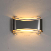 Modern Led Wall Lights For Bedroom Study Room Stainless Steel Acrylic 5W Home Decoration Wall Lamp