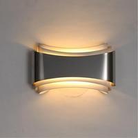 Modern led duvar yatak odası lambaları çalışma odası paslanmaz çelik + donanım 5W ev dekorasyon duvar lambası ücretsiz kargo LED İç Mekan Duvar Lambaları Işıklar ve Aydınlatma -