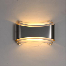 Modern led wall lights for bedroom study room Stainless steel+Acrylic 5W home decoration wall lamp free shipping цена