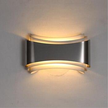 Moderna applique da parete a led per la camera da letto studio camera In  Acciaio inox + Ferramenteri