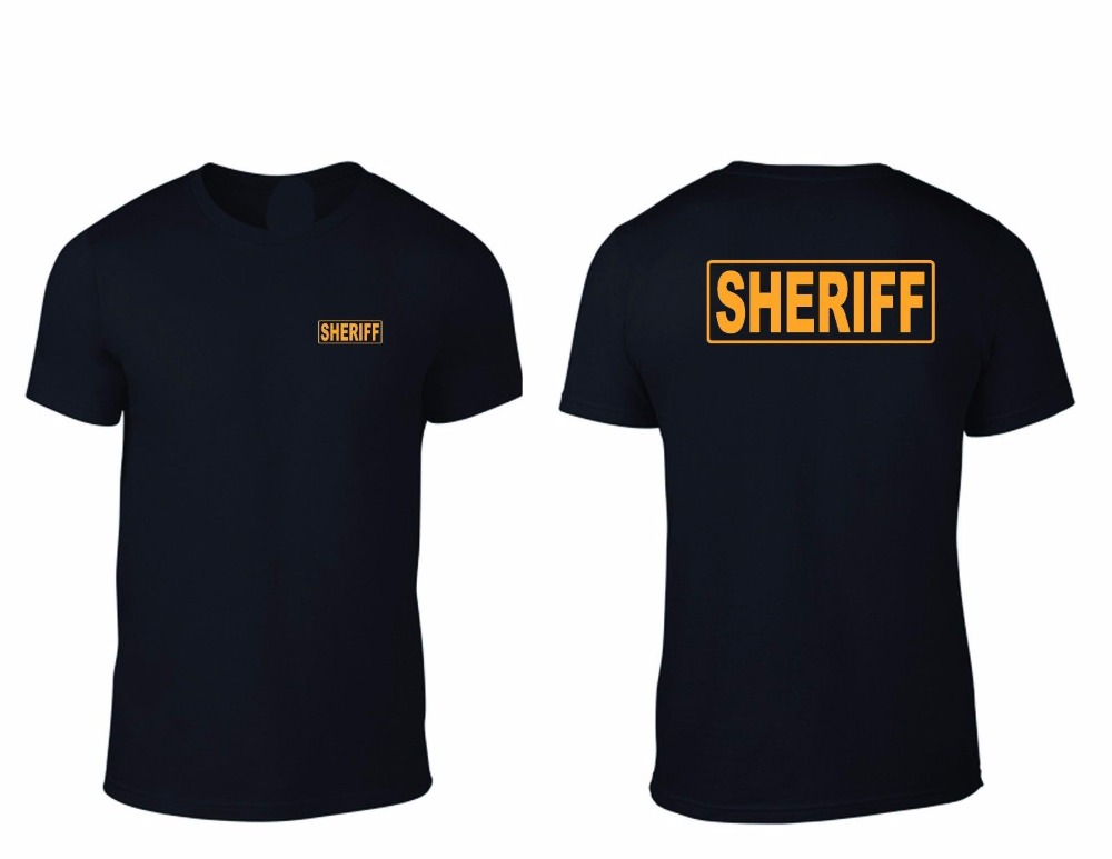 2018 new Brand Clothing Men create a T-shirt SHERIFF OFFICER Law Enforcement SHERIFF POLICE K-9 custom printed T shirt ...