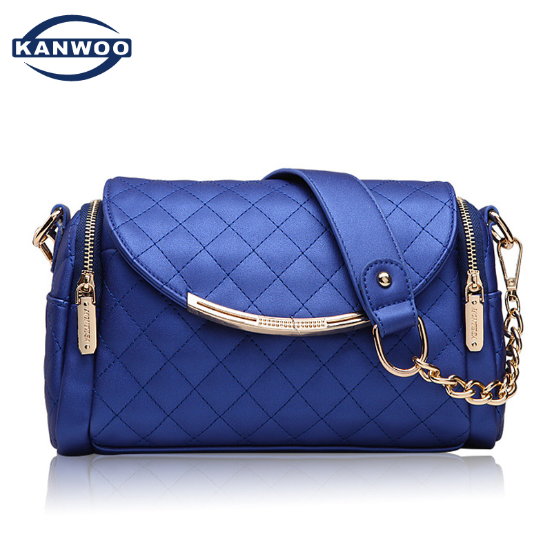 ФОТО Two Shoulder Bags For Women PU Leather Fashion Crossbody Chain Quilted Bag Girls Party Luxury Women Messenger Bag Sac Femme B104