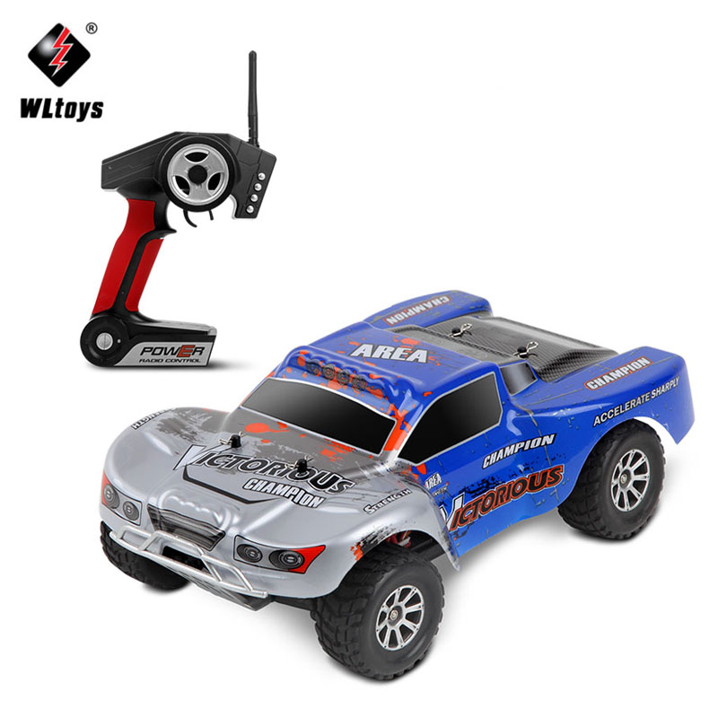 WLtoys A969-B 1:18 RC Car 4WD 4CH High Speed Rock Rover Toys Remote Control SUV 70KM/h Off Road Racing Car 2.4GHz Buggy for Boys