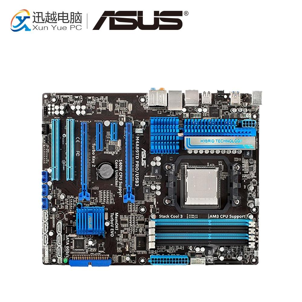 Asus M4A89TD PRO/USB3 Desktop Motherboard M4A89TD PRO USB3 890FX Socket AM3 DDR3 SATA3 USB3.0 ATX asus crosshair iv extreme desktop motherboard 890fx socket am3 ddr3 sata3 usb3 0 atx