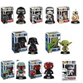 Funko Pop Star Wars Darth Vader Yoda Vinyl Bobblehead Boba Fett BB-8 batman Model Action Figure Vinyl Bobble-head Black Toy