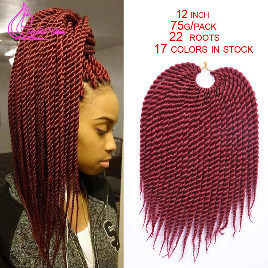 16 Colors Crochet Braid Hair 12 75g/pack Ombre Kanekalon Braiding ...