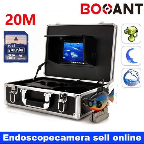 20M 50M Underwater Fishing DVR Camera Kit Control Box With Video function 7 TFT Color Fish