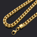Top Quality!Body Chain Gold Necklace Stainless Steel heavy tattoo choker biker jewelry men fashion necklace gift BN257