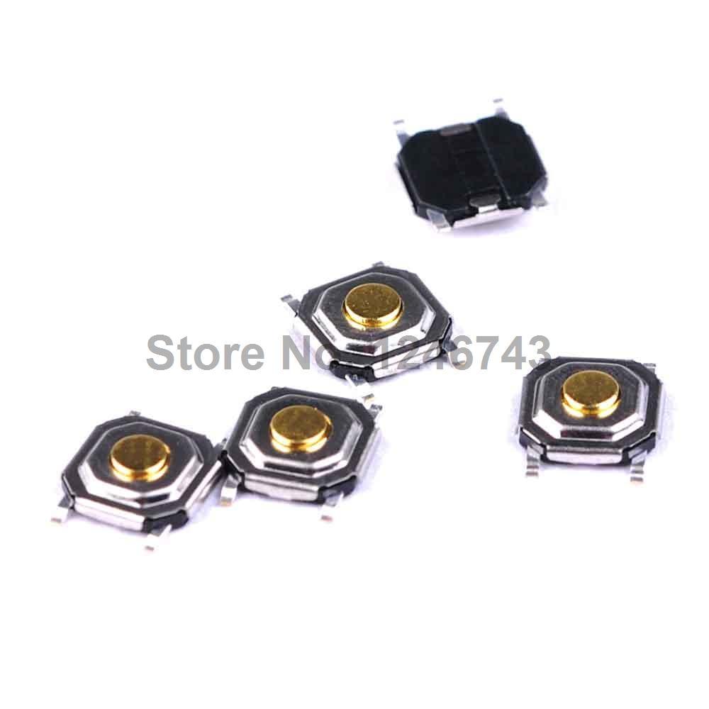 100PCS 4*4*1.5mm 4x4x1.5mm SMD Push Button Switch Microswitch Tact Switch 4 baisi 100