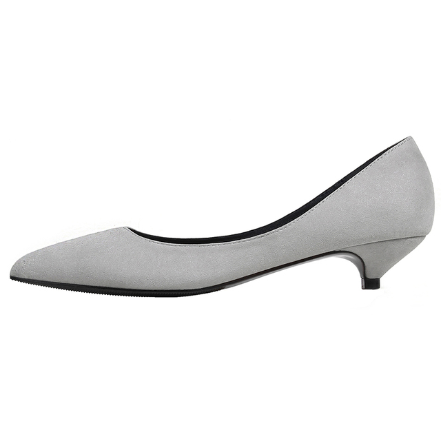 Small Big size 34-43 lady pointed-toe 3CM heeled shoes fashion women shoes classic career shoes comfortable low heel shoes