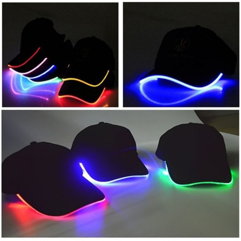 New Design LED Light Up Baseball Caps Glowing Adjustable Hats Perfect for Party Hip-hop Running and More
