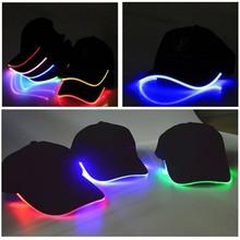 New Design LED Light Up Baseball Caps Glowing Adjustable Hats