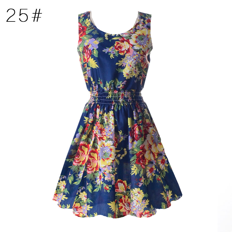 Naujas vasaros moterų atsitiktinis bohemiškas gėlių - Moteriški drabužiai - Nuotrauka 6