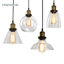 Lámparas colgantes clásicas vidrio retro lámpara colgante Rusia Loft luminaria moderna cocina comedor dormitorio lámpara colgante E27