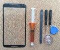 Para Motorola Google Nexus 6 Frente Lente de Vidro Da Tela De Substituição Kit de ferramentas de Cola Uv