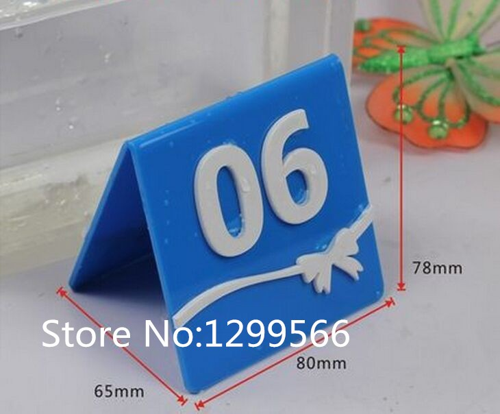 50pcs Fashion 3D stereo Acrylic table sign card table Number Card Wedding Restaurant Cafe Bar party Place digital desk card Y-10