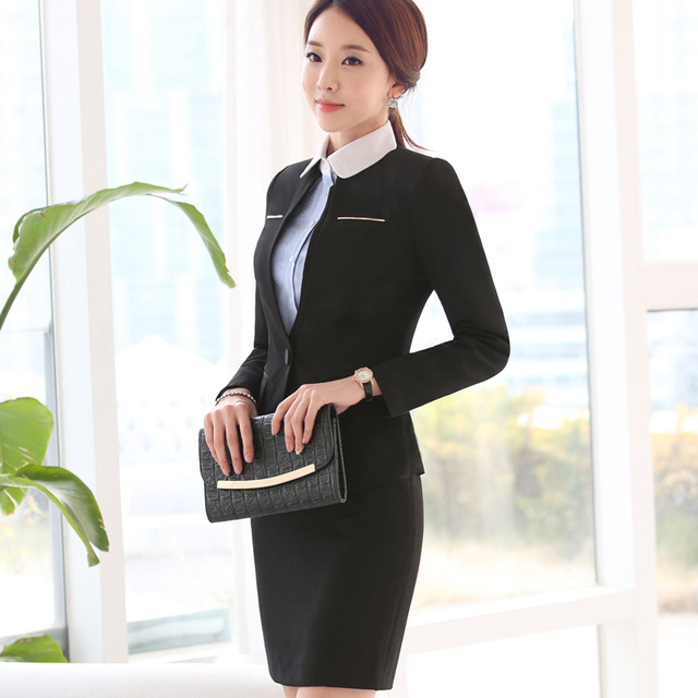Aliexpress.com : Buy 2 Pieces Women office uniform style designs ...