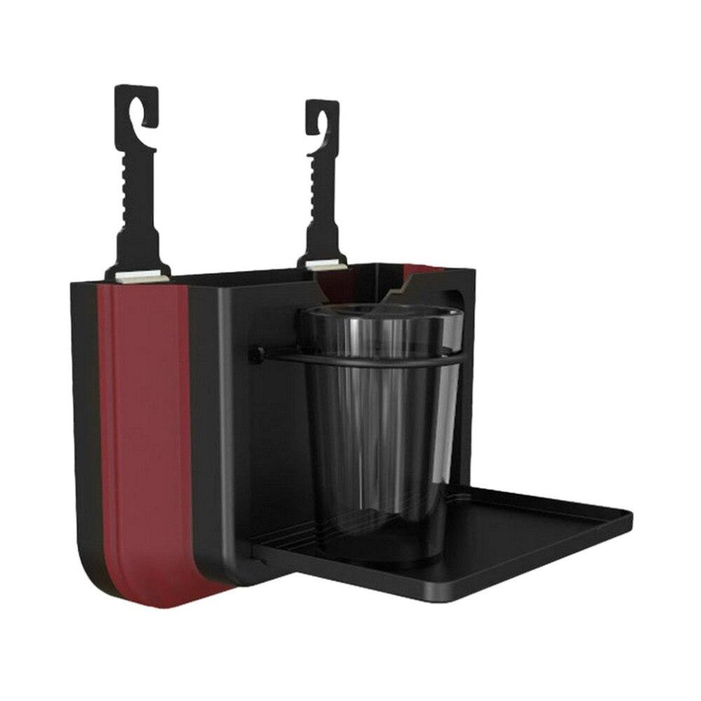 Foldable Black/Beige Multifunctional Car Seat Back Desk Food Drinks Table Rack Beverage Cup Holder Hanging Rubbish Bin Hot