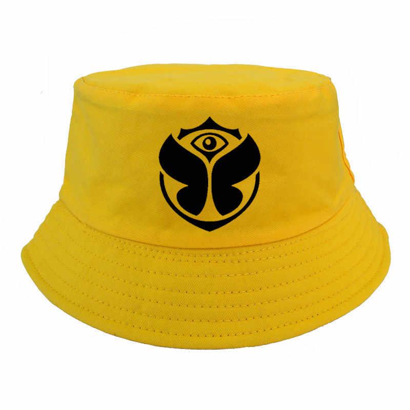 bdc6d98e5 TomorrowLand Rock Band bucket hats Fashion Summer Casual Snapback safari  fisherman hat harajuku pop Basin caps