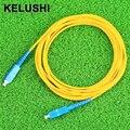 KELUSHI 2016 SC-SC fibra óptica jumper jumper cabos de fibra FTTH single-modo single core 3 m rápido grátis