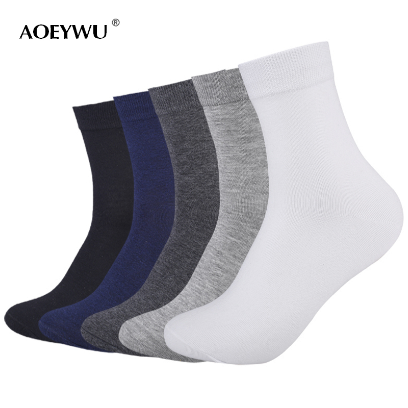 5pairs/lot spring autumn brand business cotton socks for men white casual short socks male black socks
