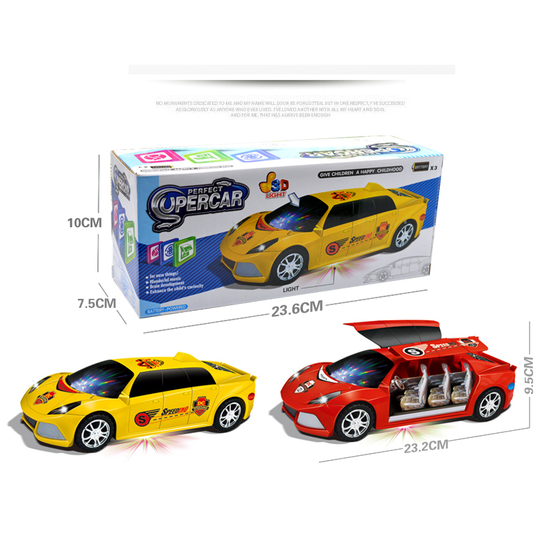 Купить с кэшбэком Hot Sale 3D Flashing Led Light Music Car Electric Toy Cars Kids Toy Childrens Gift Diecast Toy Vehicles