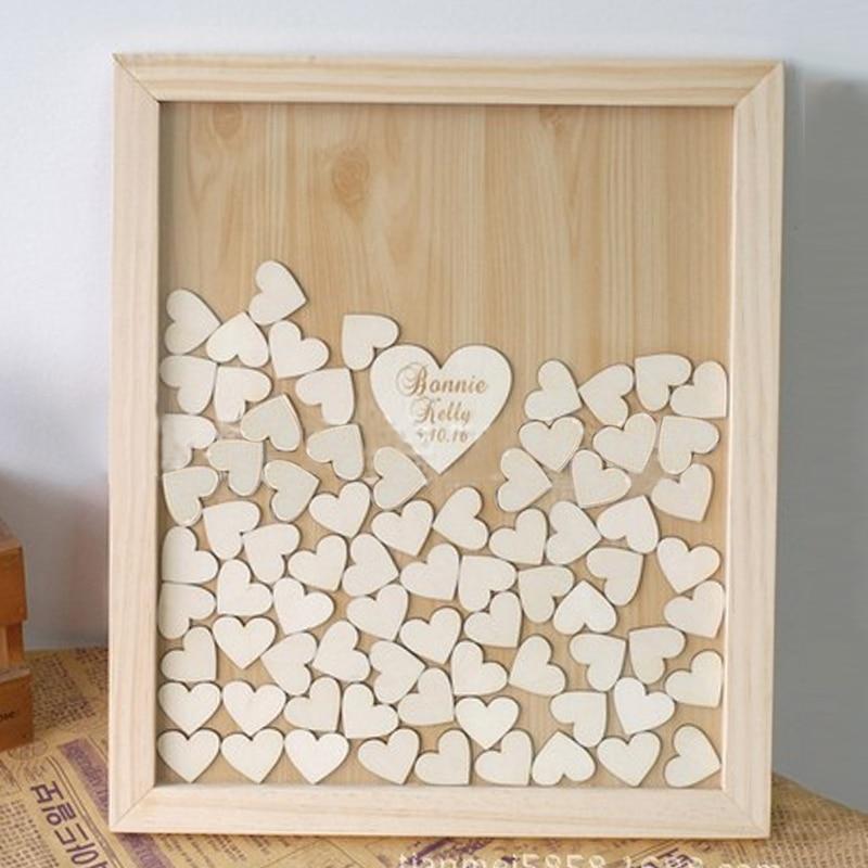 100pcs/bag Wood Heart Wedding Decoration Table Scatter