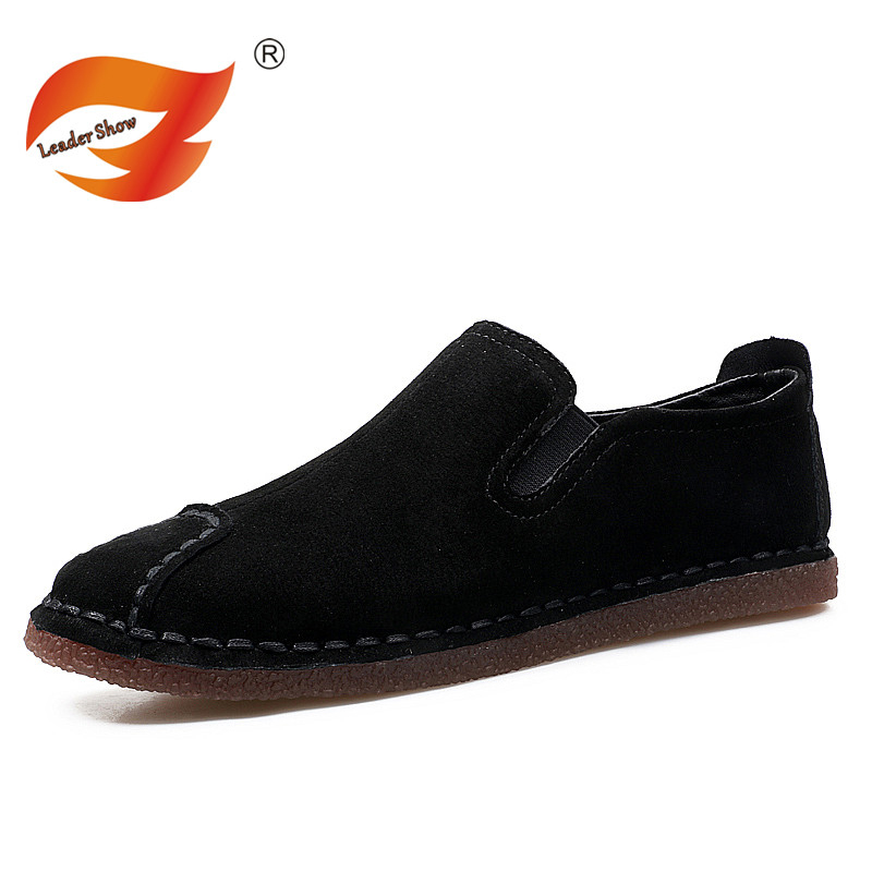 Leader Show New Fashion Summer Spring Men Driving Shoes Loafers Suede Leather Boat Shoes Breathable Male Casual Flats Loafers 2017 new fashion summer spring men driving shoes loafers real leather boat shoes breathable male casual flats