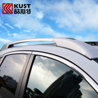 KUST 2PCS Outdoor Car Roof Luggage Rail Rack For CRV 2012 TO 2015 Travel Luggage Rack