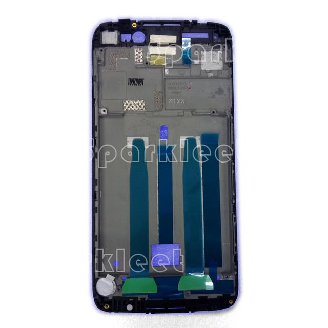 Moldura do lcd para alcatel one touch idol 3 ot6045 6045 frente de substituição de habitação peças de boa qualidade frete grátis