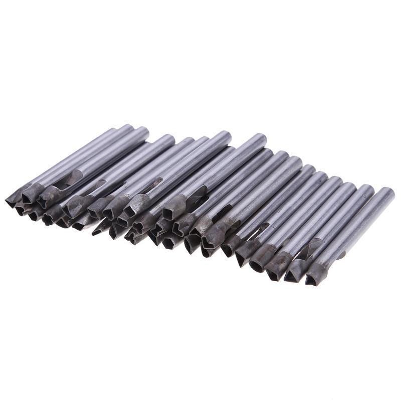 32 pièces 6/7/8mm bricolage foret en cuir artisanat perforateur trou plat perforateur Cutter burin outil ensemble poinçon en cuir outils de forage
