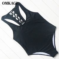 OMKAGI Brand Swimsuit Swimwear Women Bandage Bikinis Set Sexy Push Up Hollow Out Bodysuit Swimming Bathing