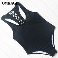 OMKAGI Brand Swimsuit Swimwear Women Bandage Bikinis Set Sexy Push Up Hollow Out Bodysuit Swimming Bathing