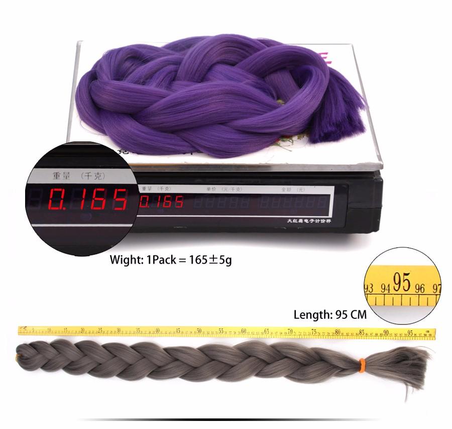 бренд alileader и магазин джамбо представляют цветные плетенные косы, длина 36 дюймов, вес 165 г, одноцветные чудные косички из материала канекалон, в ассортименте черный, белый, розовый цвета, 1 шт/уп