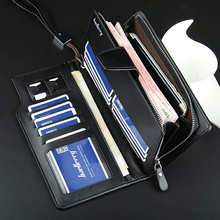 High Quality Man Wallets Pu Leather Male Long Clutch Purse C